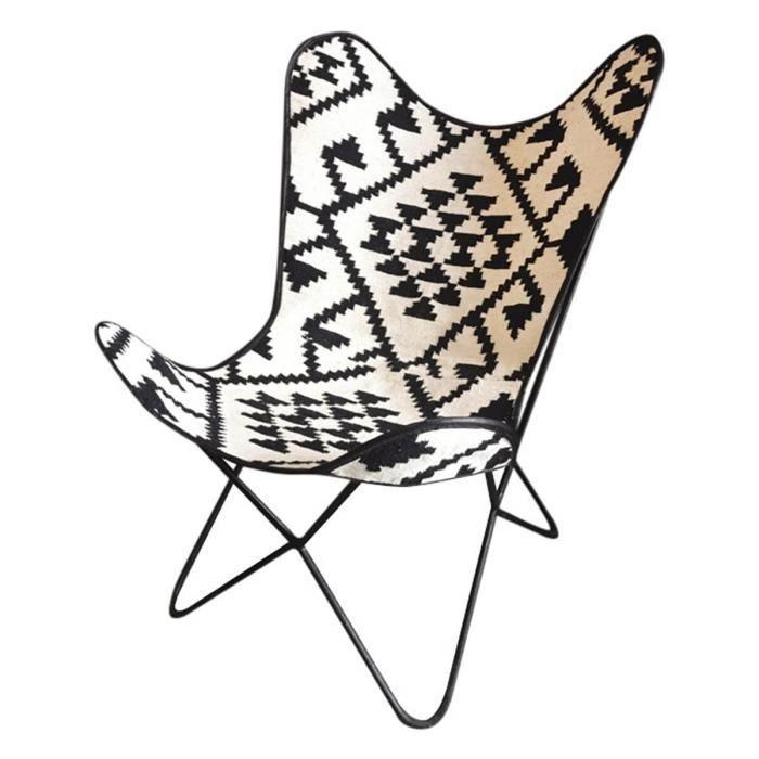 Fauteuil butterfly toile de jute ethnique achat vente for Fauteuil confident