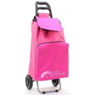 chariot de course avec poche isotherme zipp e rose. Black Bedroom Furniture Sets. Home Design Ideas