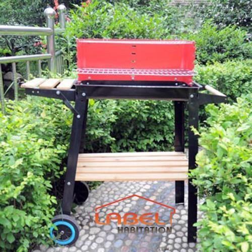 Barbecue barbecue charbon de bois lbh jardin 1014 for Barbecue de jardin