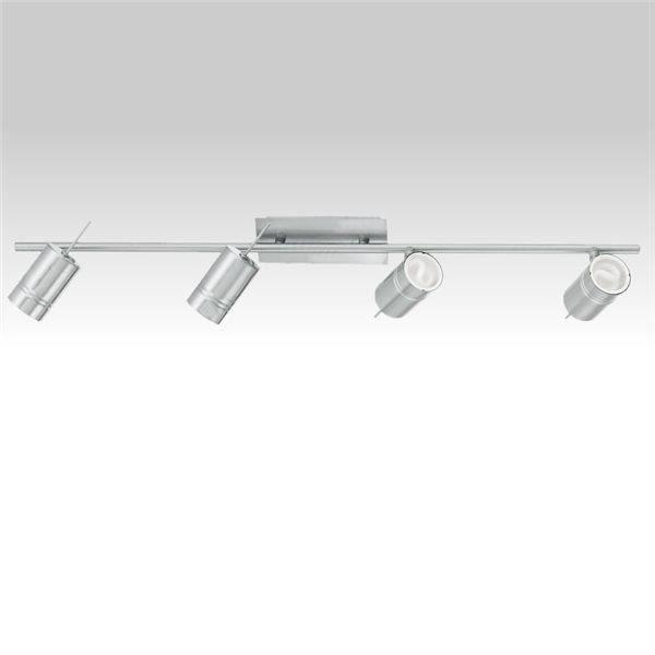 plafonnier barre 4 spots orientables applique rail lumieres plafond design achat vente. Black Bedroom Furniture Sets. Home Design Ideas