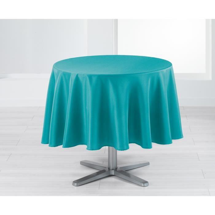 nappe ronde 180 cm holly bleu achat vente nappe de table soldes cdiscount. Black Bedroom Furniture Sets. Home Design Ideas