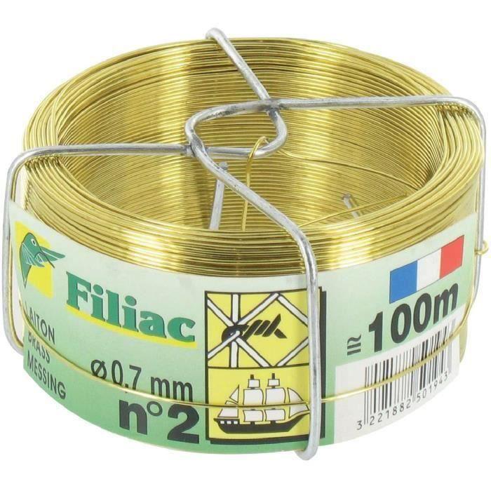 fil laiton mou filiac long 100 m diam 0 7 mm achat vente lien attache collier. Black Bedroom Furniture Sets. Home Design Ideas