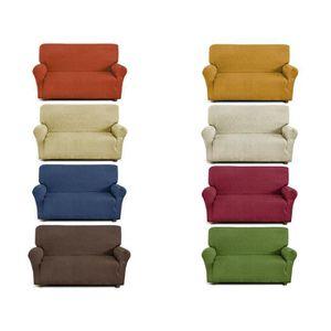 housse canape 2 places gris achat vente housse canape. Black Bedroom Furniture Sets. Home Design Ideas