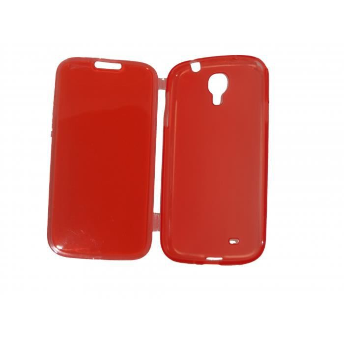 coque samsung galaxy s4 rouge clapet achat coque. Black Bedroom Furniture Sets. Home Design Ideas