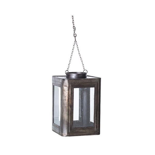 lanterne en m tal suspendre achat vente photophore lanterne m tal cdiscount. Black Bedroom Furniture Sets. Home Design Ideas