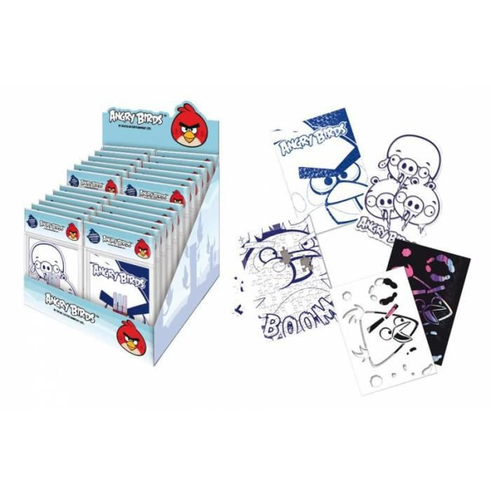 Angry birds lot 4 minis coloriages achat vente kit de dessin angry birds lot 4 minis c - Dessin a colorier angry bird ...