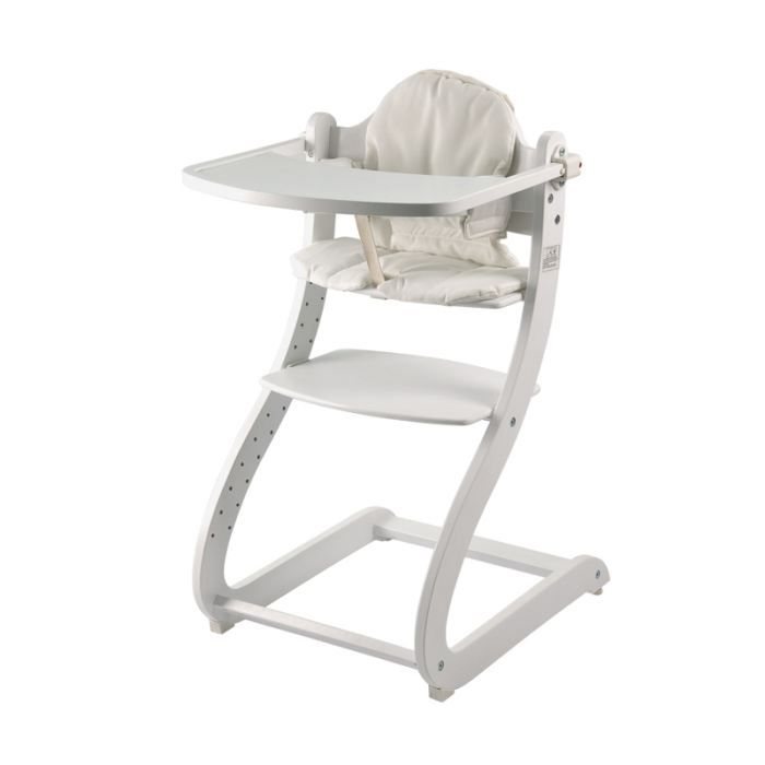 Chaise haute caya blanc first baby safety achat vente - Chaise haute 4 mois ...