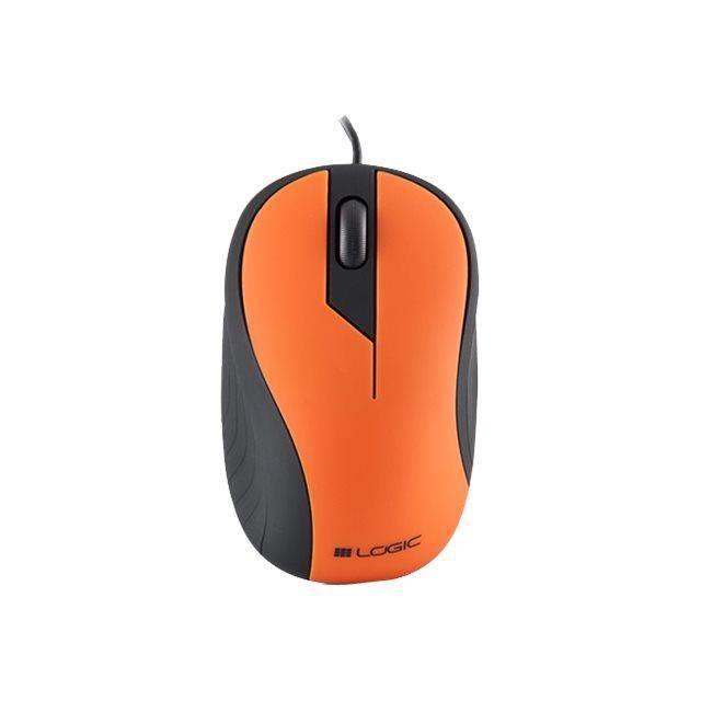 newsinformatique clavier souris webcam logic optical mouse noir lm  usb d orange m l f log