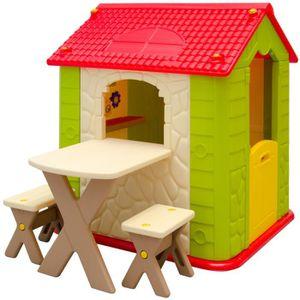 Maisonnette enfant plastique achat vente jeux et for Maisonnette smoby occasion