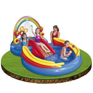piscine enfant avec toboggan achat vente jeux et jouets pas chers. Black Bedroom Furniture Sets. Home Design Ideas