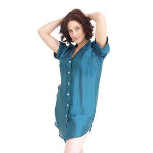 chemise de nuit en soie achat vente chemise de nuit en soie pas cher soldes cdiscount. Black Bedroom Furniture Sets. Home Design Ideas