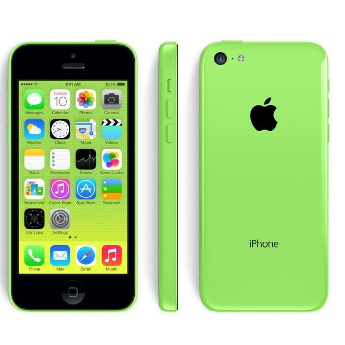 apple iphone 5c a1532 4g smartphone 4 pouces ecran ios 7 32 go double cam ra d bloqu vert. Black Bedroom Furniture Sets. Home Design Ideas