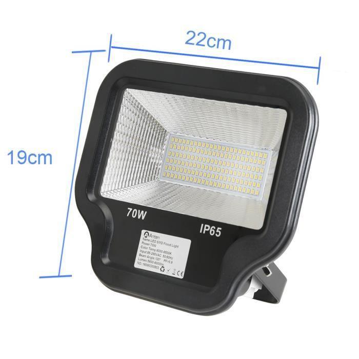 Anten 70w projecteur led floodlight lampe spot clairage for Lampe exterieur etanche