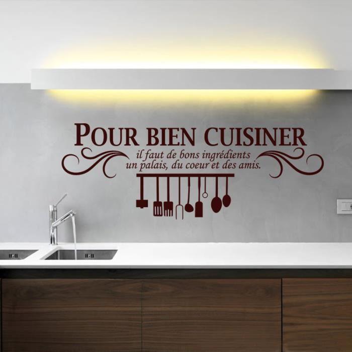 Marron cr ative stickers muraux pour cuisine d coration la maison fond d 3 - Stickers pour maison ...