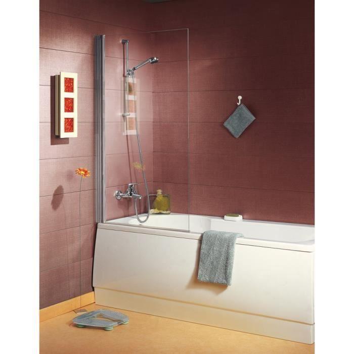 pare baignoire ancoswing 140x80 silver achat vente. Black Bedroom Furniture Sets. Home Design Ideas
