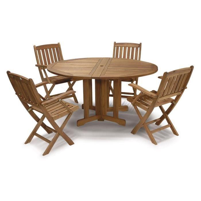 Ensemble milano en bois d 39 acacia achat vente salon de jardin ensemble milano en bois d 39 a for Entretien d un salon de jardin en acacia