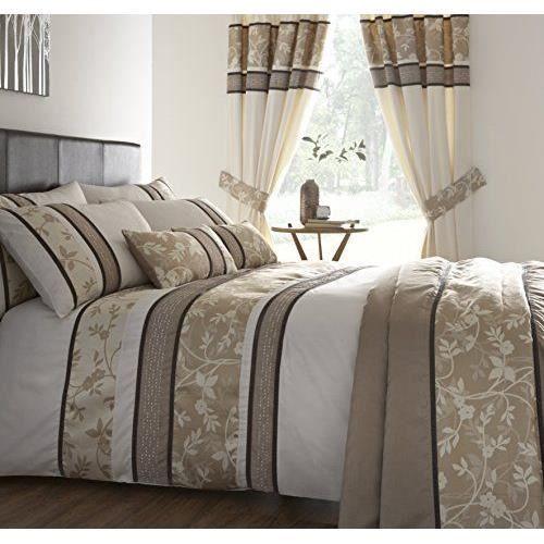 dreams n drapes downton parure de lit naturel king achat vente parure de drap cdiscount. Black Bedroom Furniture Sets. Home Design Ideas