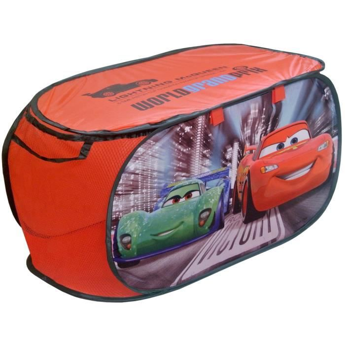 coffre jouets panier de rangement disney cars flash mcqueen rouge achat vente coffre. Black Bedroom Furniture Sets. Home Design Ideas