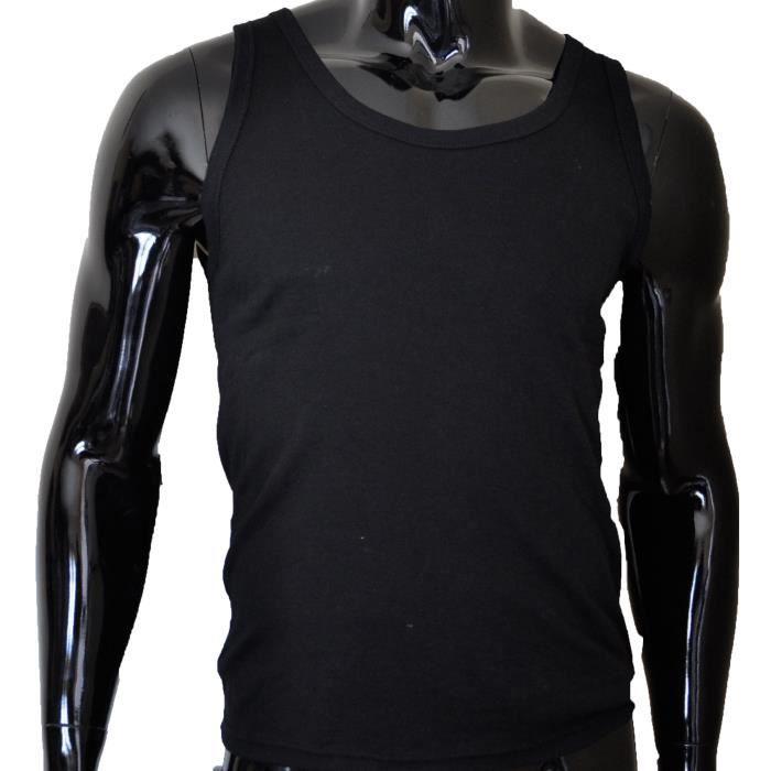 maillot de corps noir pour homme noir achat vente. Black Bedroom Furniture Sets. Home Design Ideas