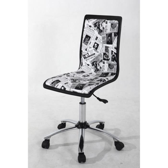 Chaise bureau avec roulettes r glage de la haut achat vente chaise de - Chaise bureau cdiscount ...
