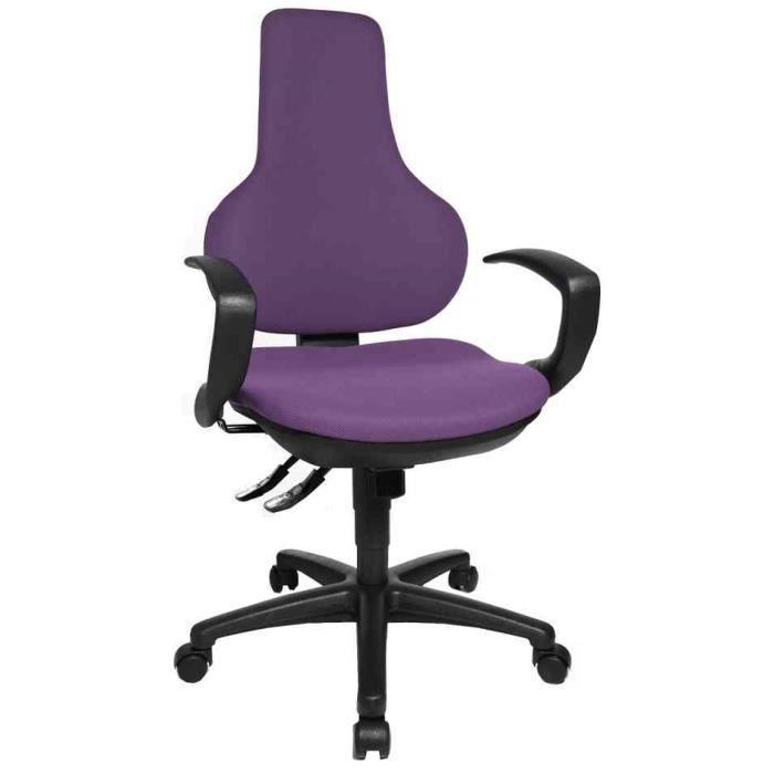 Chaise pivotante de bureau ergo point sy rev t achat - Chaise de bureau violet ...