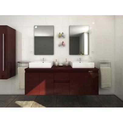 Meubles de salle de bain lavita ii suspendus avec double for Meuble salle de bain double porte