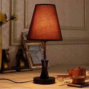 LAMPE A POSER Lampe à Poser avec Base en Bois Ampoule Eclairage