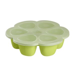 CONSERVATION REPAS Béaba Multiportions silicone 6 x 150 ml neon