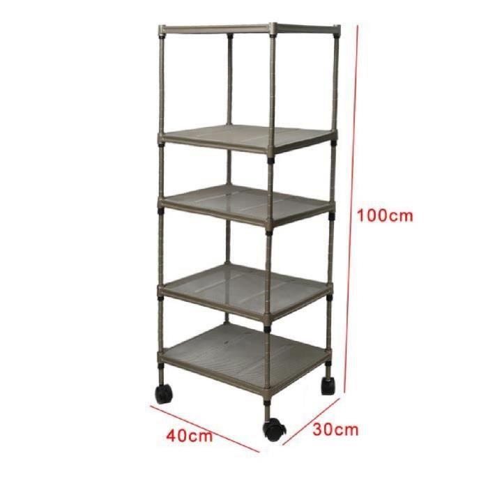 tag re rangement 5 tablettes en acier au carbon hauteur. Black Bedroom Furniture Sets. Home Design Ideas