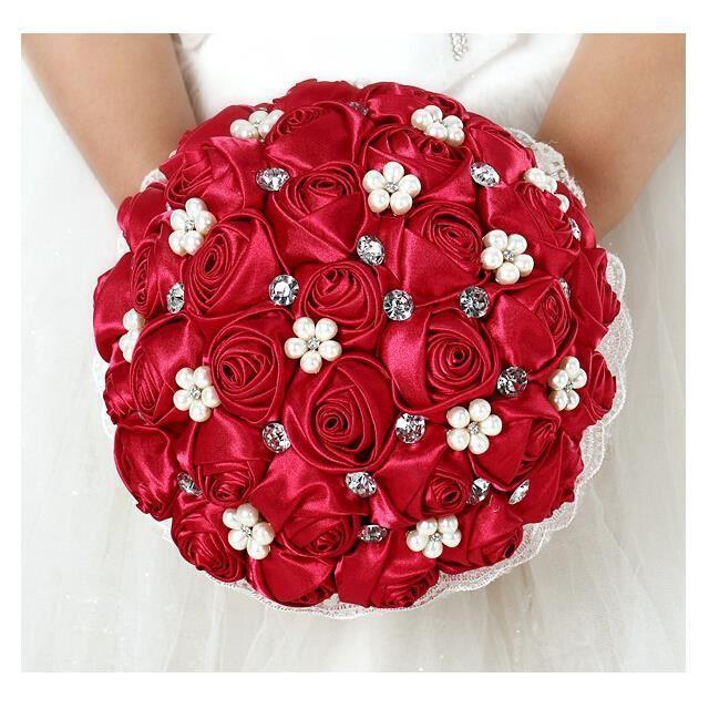 Bouquet de mari e roses fleurs de mariage artificielles achat vente bouqu - Bouquet de fleurs artificielles pour mariee ...