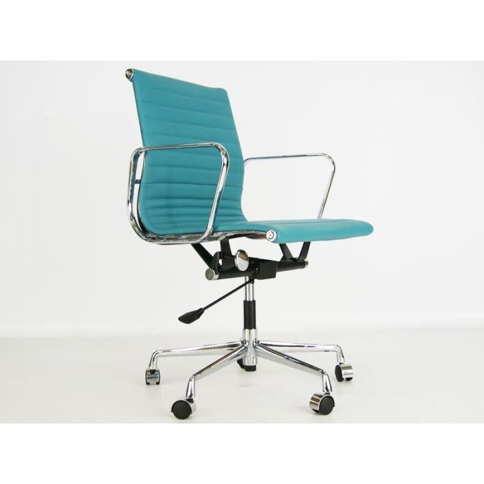 Chaise eames alu ea117 bleu achat vente chaise for Achat chaise eames