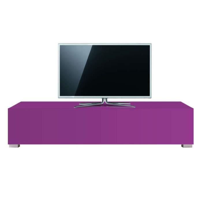 Banc meuble tv design standard l violet achat vente for Meuble banc tv design