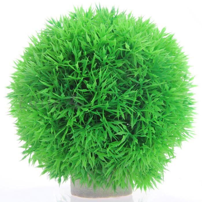 Plante artificielle herbe aquatique plastique vert d co for Deco plante artificielle