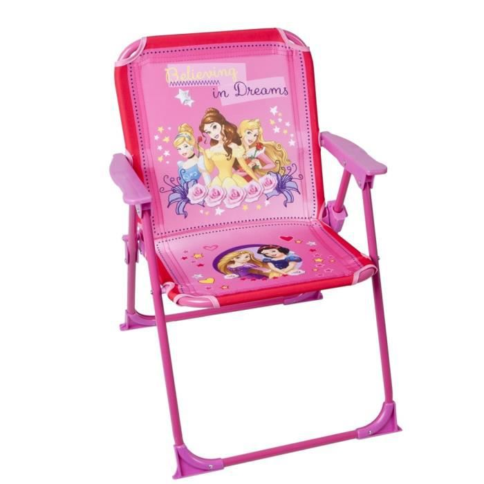 chaise pliable pour enfant disney princesses achat vente chaise fauteuil jardin chaise. Black Bedroom Furniture Sets. Home Design Ideas