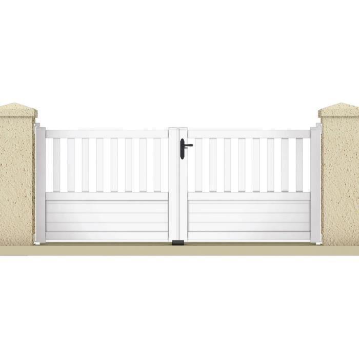 portail battant jupiter 3 05 m pvc coloris blanc achat vente portail portillon. Black Bedroom Furniture Sets. Home Design Ideas