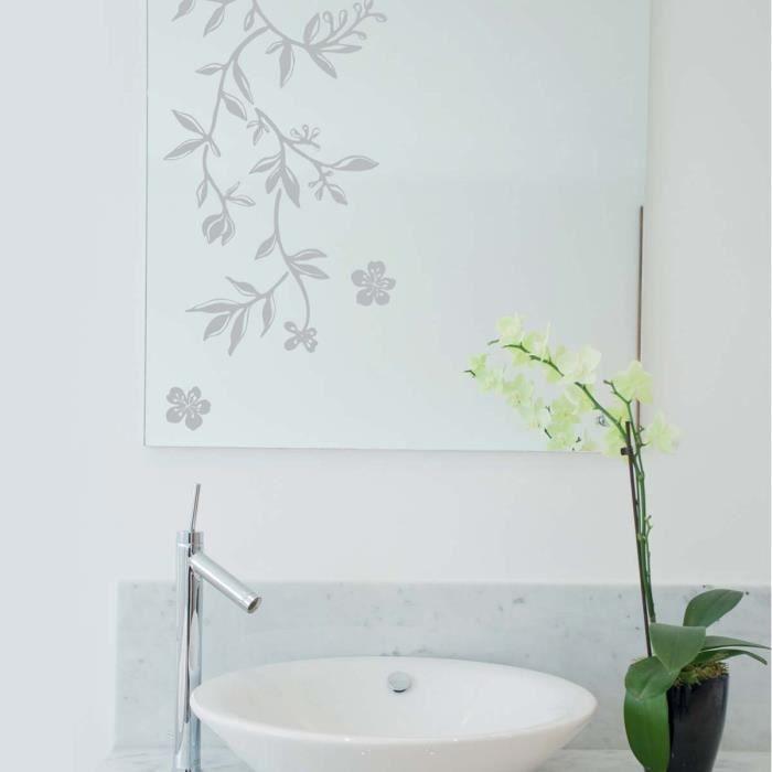 stickers fenetre guirlande de fleurs achat vente stickers cdiscount. Black Bedroom Furniture Sets. Home Design Ideas