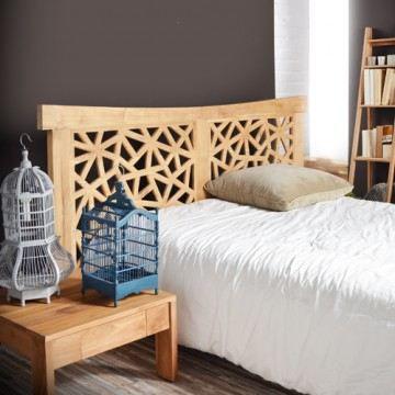 t te de lit 210x110 en teck gentong achat vente t te de lit t te de lit 210x110 en teck. Black Bedroom Furniture Sets. Home Design Ideas