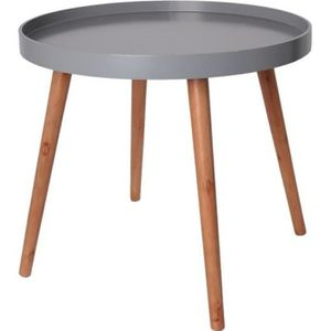 Table basse gris achat vente pas cher cdiscount page 2 - Table d appoint ronde ...