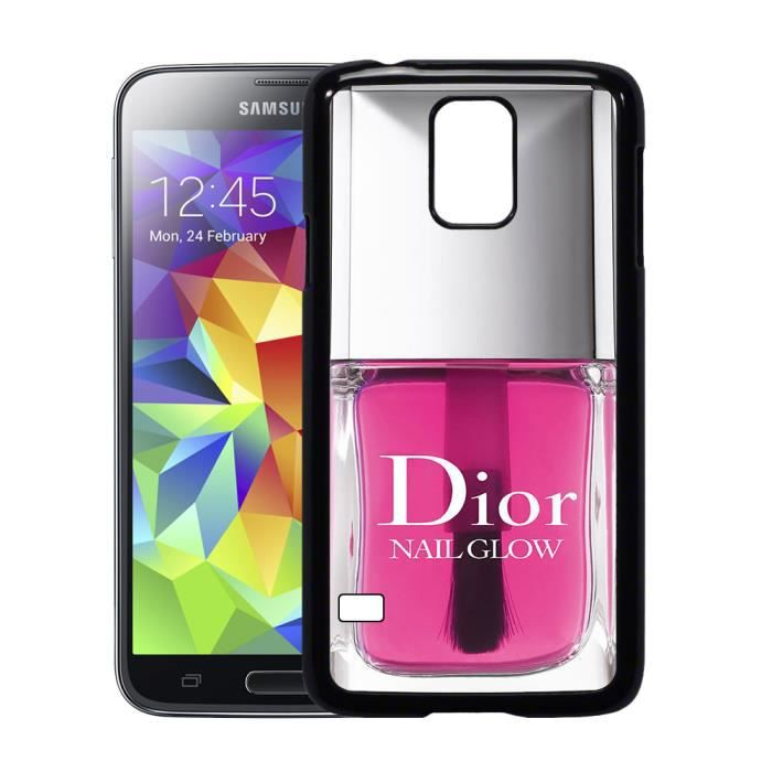 coque samsung galaxy s5 vernis dior rose achat coque. Black Bedroom Furniture Sets. Home Design Ideas