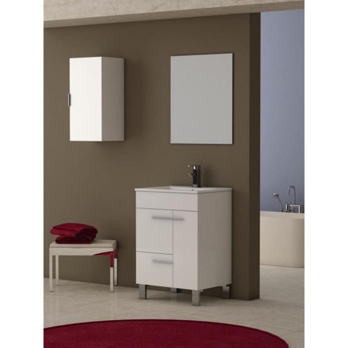 Meuble de salle de bains mod le guapo blanc achat for Commode de salle de bain blanc