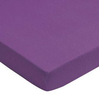 Jollein drap housse 60 x 120 cm jersey pourpre violet - Drap housse 140x190 violet ...