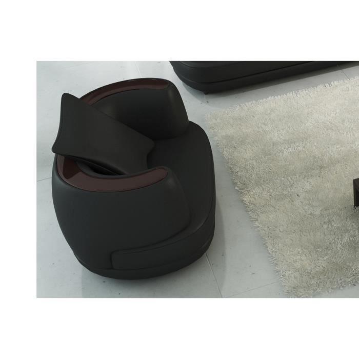 Fauteuil 1 place en cuir italien richmond achat vente fauteuil cdiscount - Fauteuil cuir italien ...