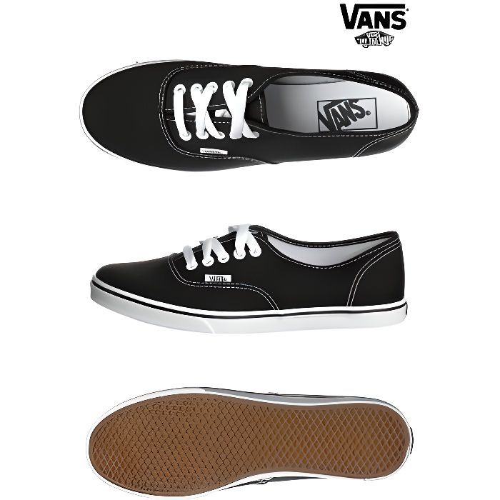 basket vans authentic lo pro noi femme noir achat vente basket vans authentic lo pr femme. Black Bedroom Furniture Sets. Home Design Ideas