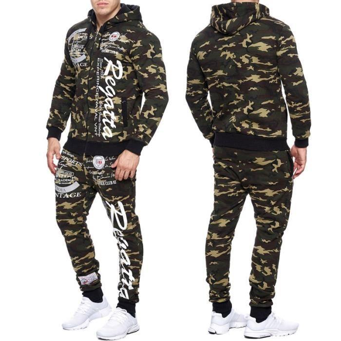 ensemble jogging camouflage homme veste et jogging 663. Black Bedroom Furniture Sets. Home Design Ideas