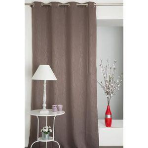 rideaux occultant marron achat vente rideaux occultant marron pas cher cdiscount. Black Bedroom Furniture Sets. Home Design Ideas
