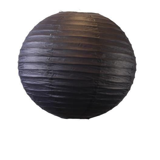 d co mariage f te boule papier 50 cm noir lot de 3 pi ces achat vente lanterne fantaisie. Black Bedroom Furniture Sets. Home Design Ideas