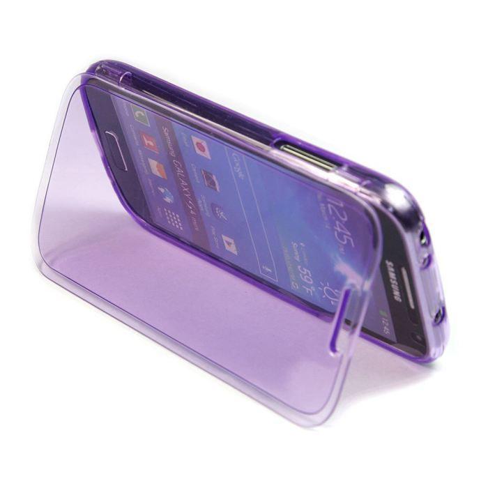 coque gel violet samsung galaxy s4 mini film achat. Black Bedroom Furniture Sets. Home Design Ideas