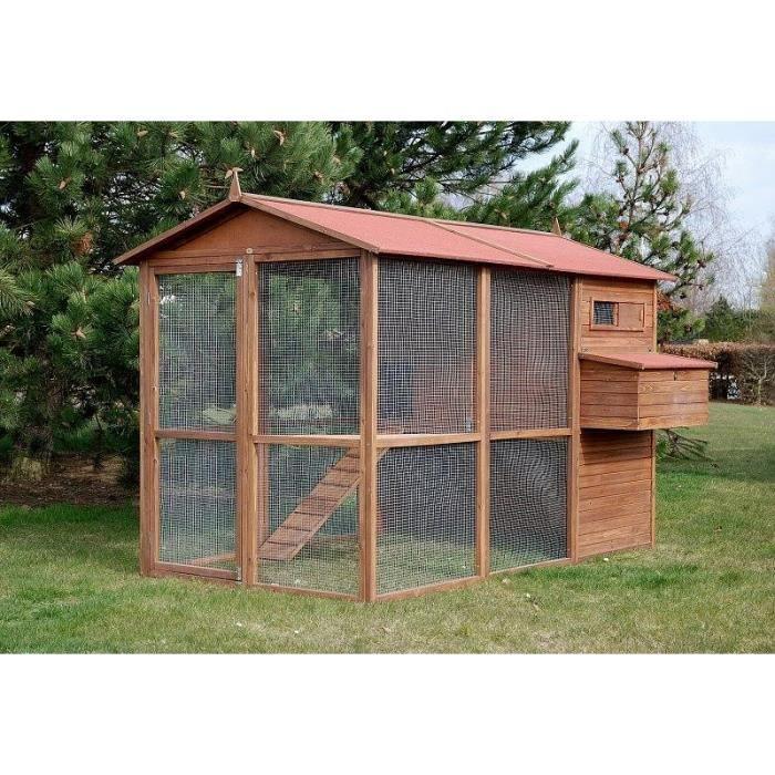 poulailler large square pour 8 12 poules achat vente. Black Bedroom Furniture Sets. Home Design Ideas