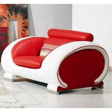 Fauteuil canap design cuir rouge et balthazar achat - Canape et fauteuil cuir ...