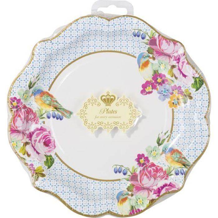 assiette fleur achat vente assiette fleur pas cher les soldes sur cdiscount cdiscount. Black Bedroom Furniture Sets. Home Design Ideas